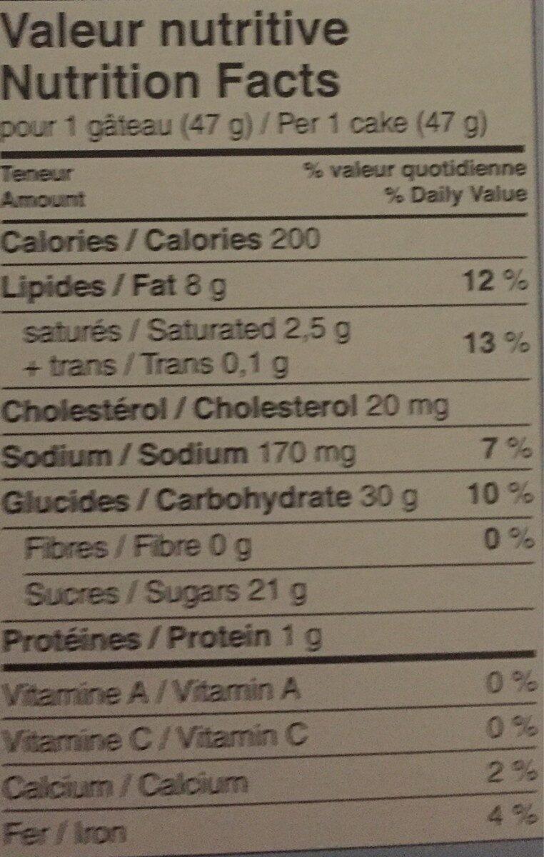 Demi-Lune - Informations nutritionnelles - fr