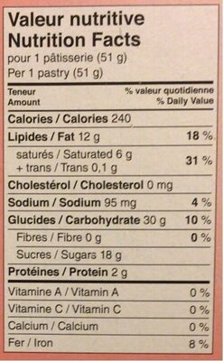 Passion Flakie - Nutrition facts
