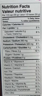 Veggie ground - Nutrition facts - en