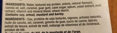 Original Veggie Ground Round / Sans-Viande Haché Original - Ingrédients - fr