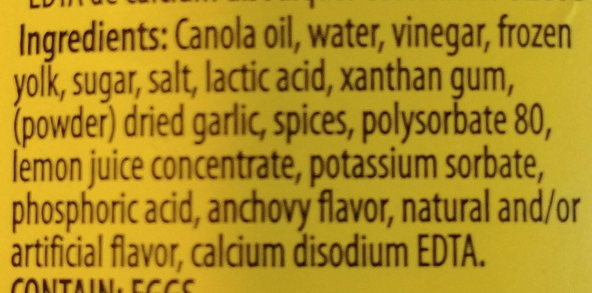 Vinaigrette cesar - Ingredients - fr
