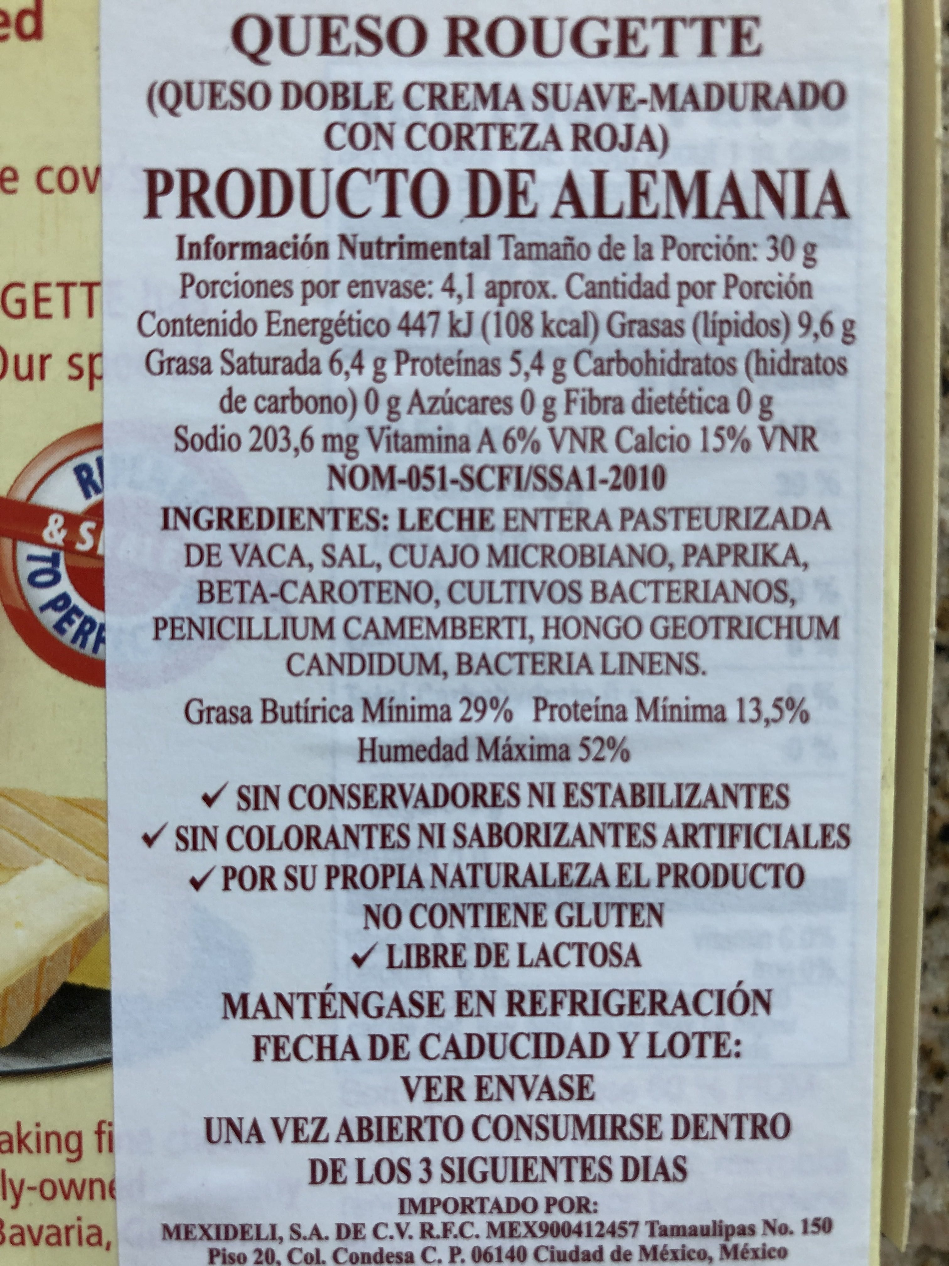 Gourmet Soft-Ripened Cheese With A Red Rind - Product
