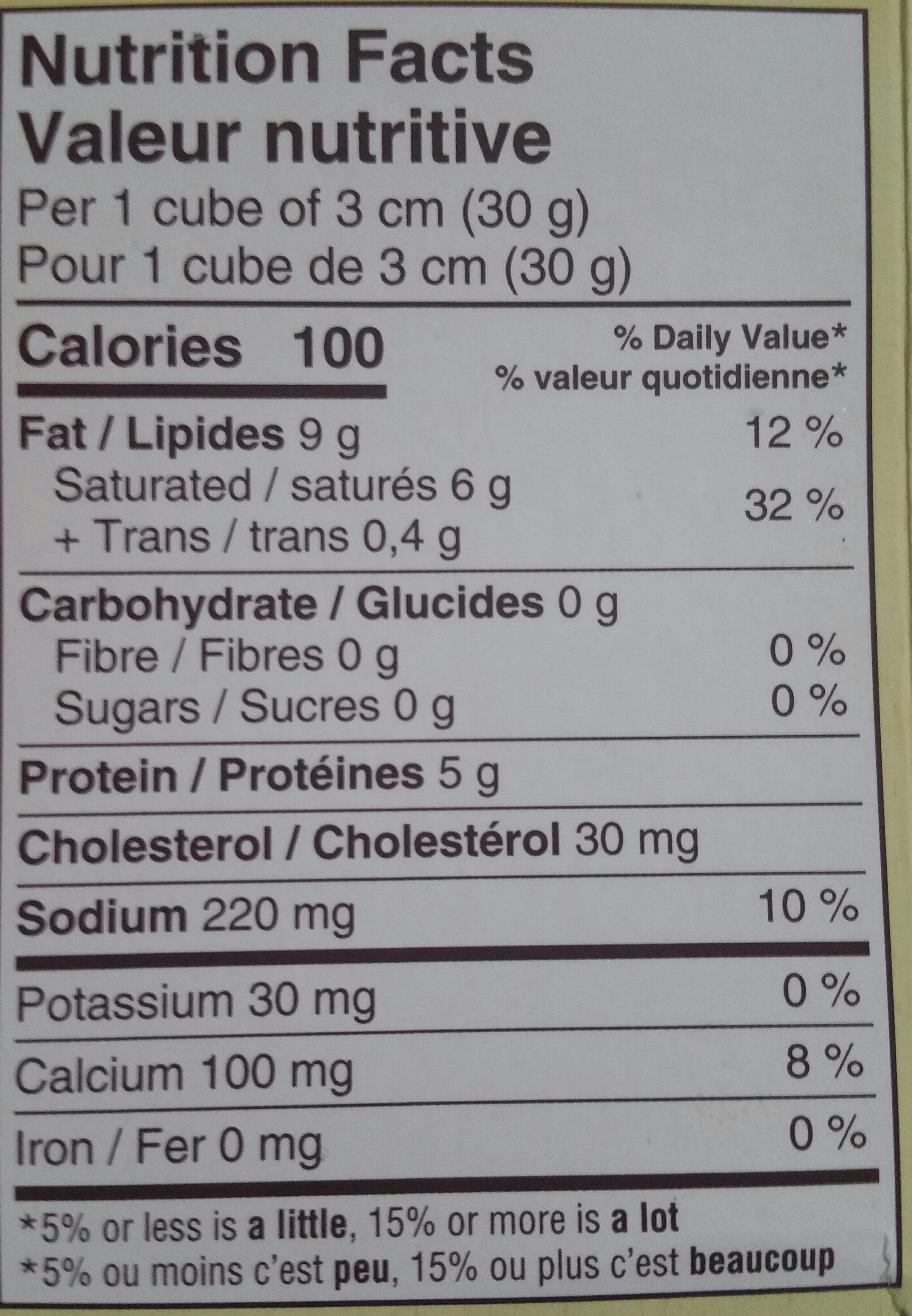 Gourmet Soft-Ripened Cheese With A Red Rind - Nutrition facts