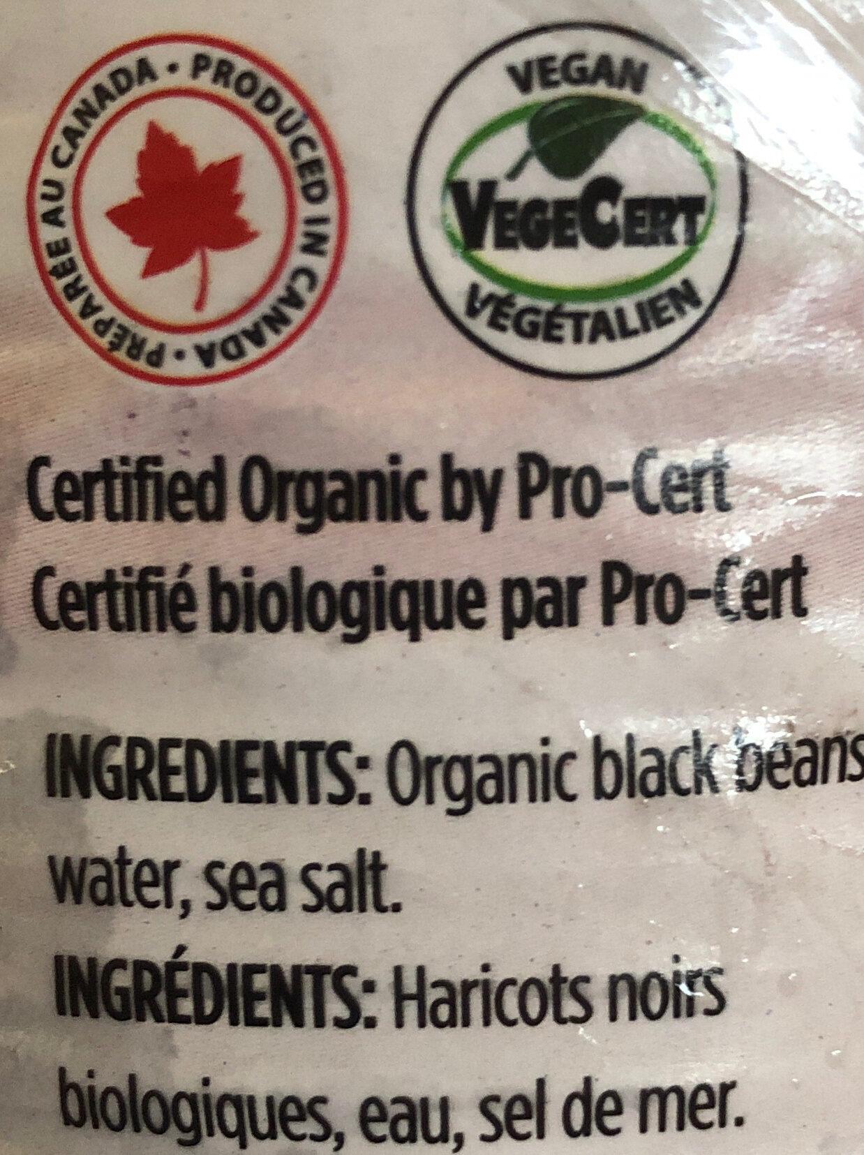 Haricots noirs biologiques - Ingrédients - fr