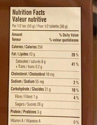 Caramilk - Informations nutritionnelles - fr