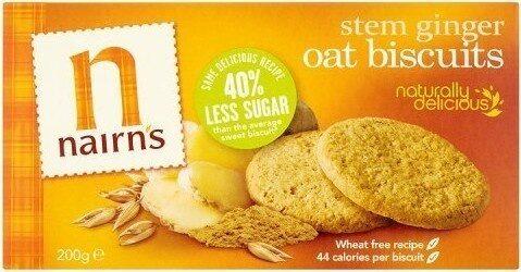 Stem ginger oat biscuits - Prodotto - en