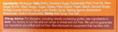 Stem ginger oat biscuits - Ingredienti - en