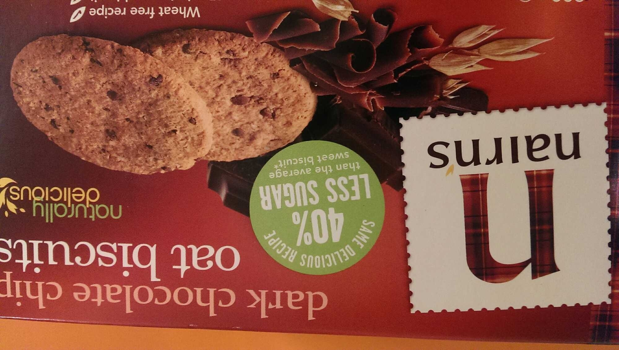 Dark chocolate chip oat biscuits - Product - en