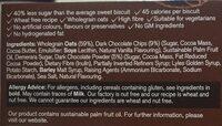 Dark chocolate chip oat biscuits - Ingrediënten - en