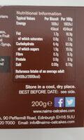 Dark chocolate chip oat biscuits - Voedingswaarden - en