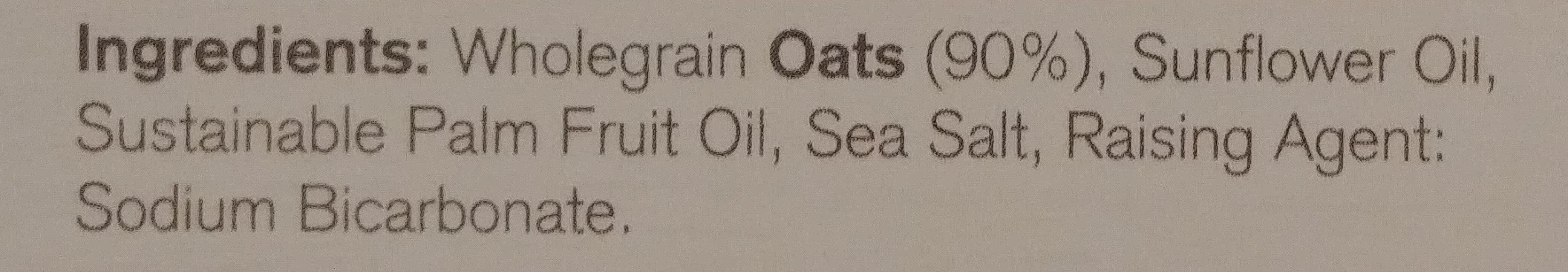 Nairns Rough Oatcake - Ingredients - en