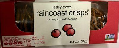 Raincoast crisps : craquelins aux canneberges et aux noisettes - Product - es