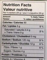 Raincoast crisps - Informations nutritionnelles - es
