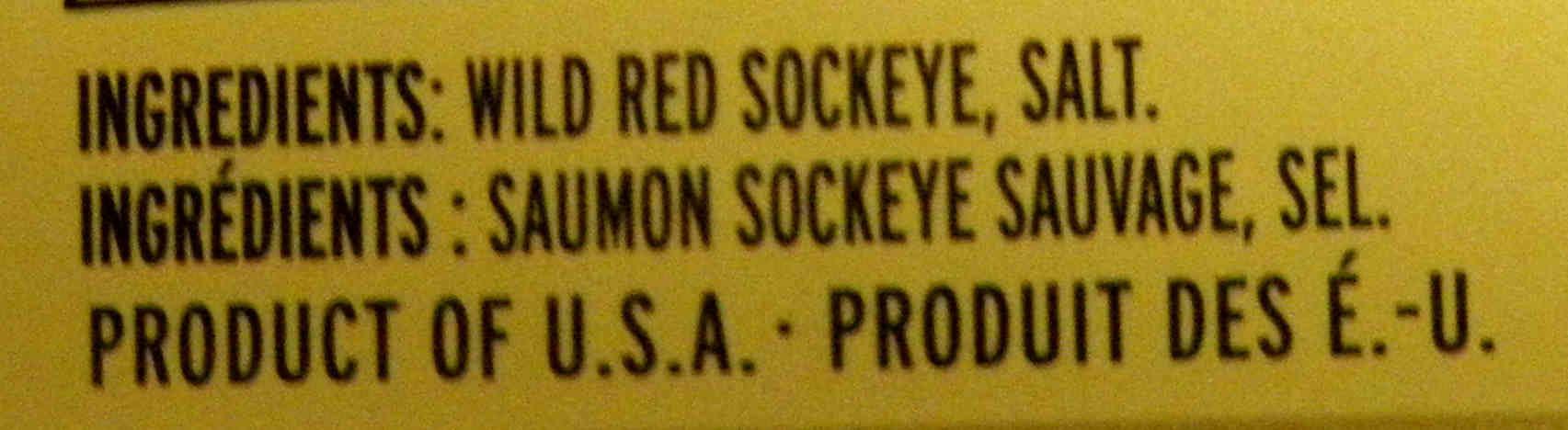 Saumon Sockeye - Ingredients - en