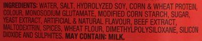 Bovril Boeuf - Ingredients - en