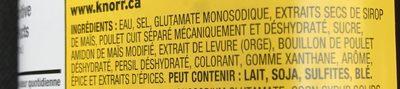 Bouillon Concentré Poulet - Ingrédients - fr