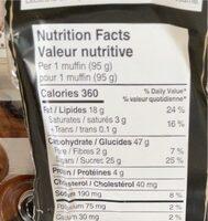 Muffins - Nutrition facts - en