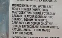 Ham - Smoked Homey & Maple Flavour - Ingredients - en