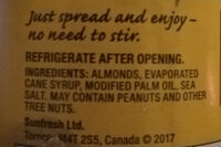 Almond butter - Ingredients - fr