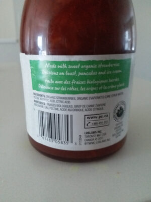 Strawberry spread - Ingredients - zh
