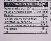 Hamburguesa extra - Nutrition facts