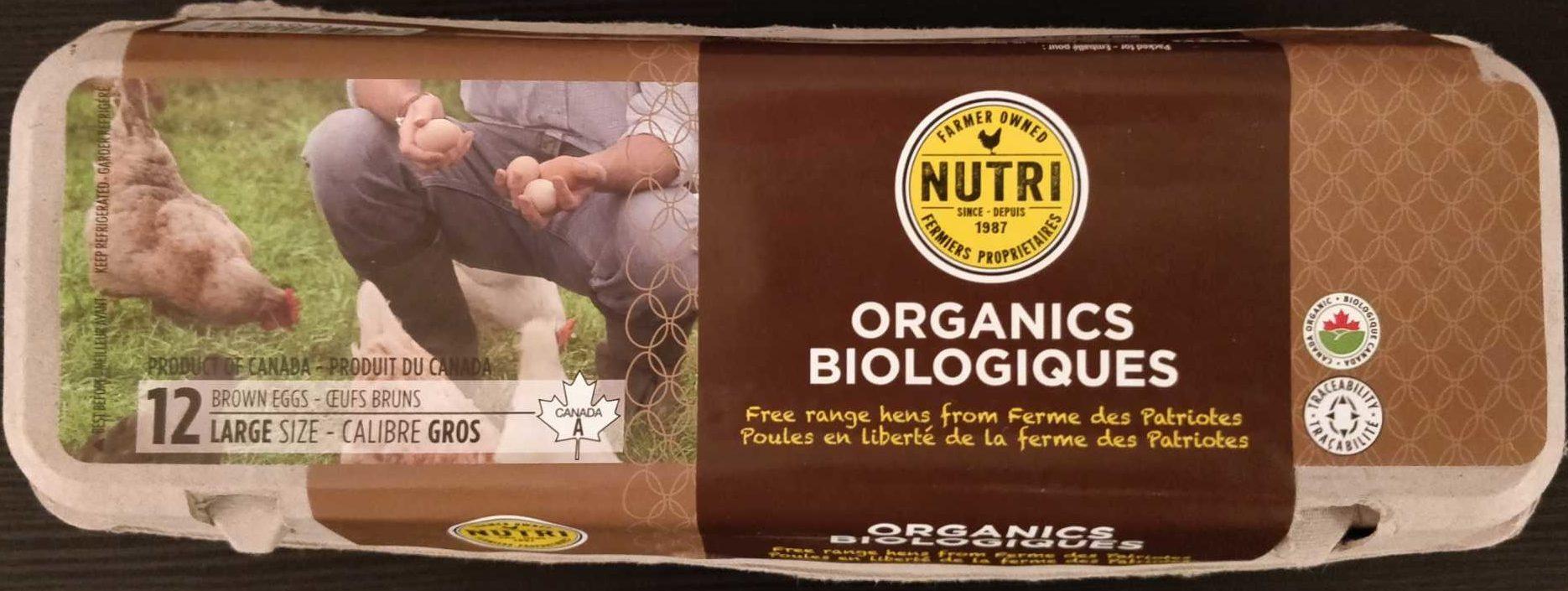 Nutri Egg Organic Brown - Produit - fr