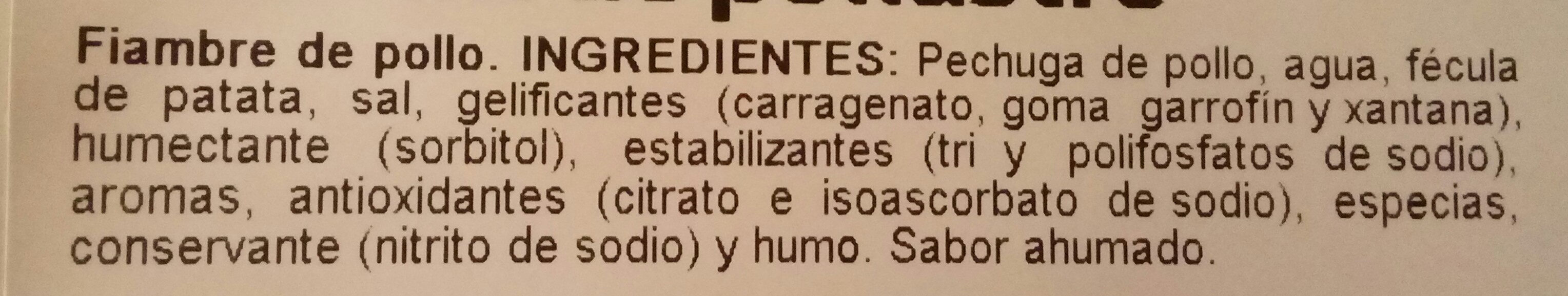 Finísimo de pollo - Ingredientes