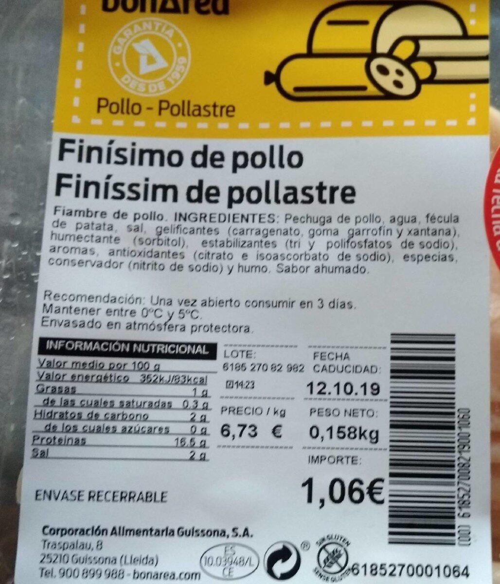 Finisimo de pollo - Product - es