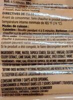 Saucisse fumee - Ingredients - en