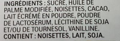 Nutella - Ingredients