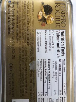 Ferrero Rocher - Ingredients - en