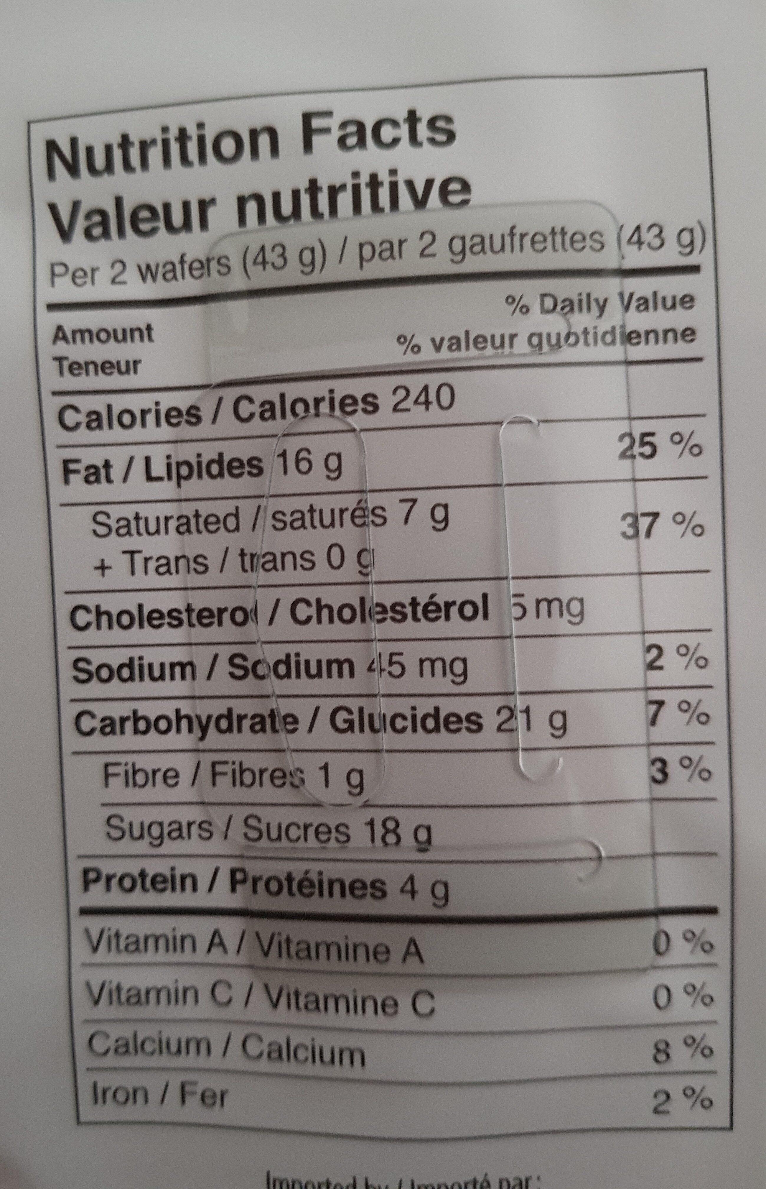 bueno - Nutrition facts - en