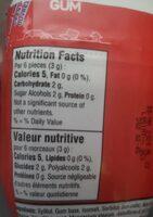 Tic tac gum - Voedingswaarden - fr