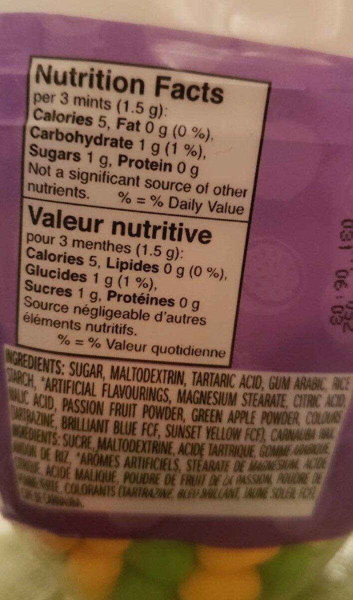 Bonbon - Voedingswaarden - fr