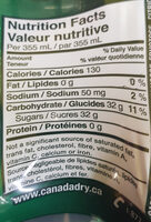 Canada Dry - Nutrition facts