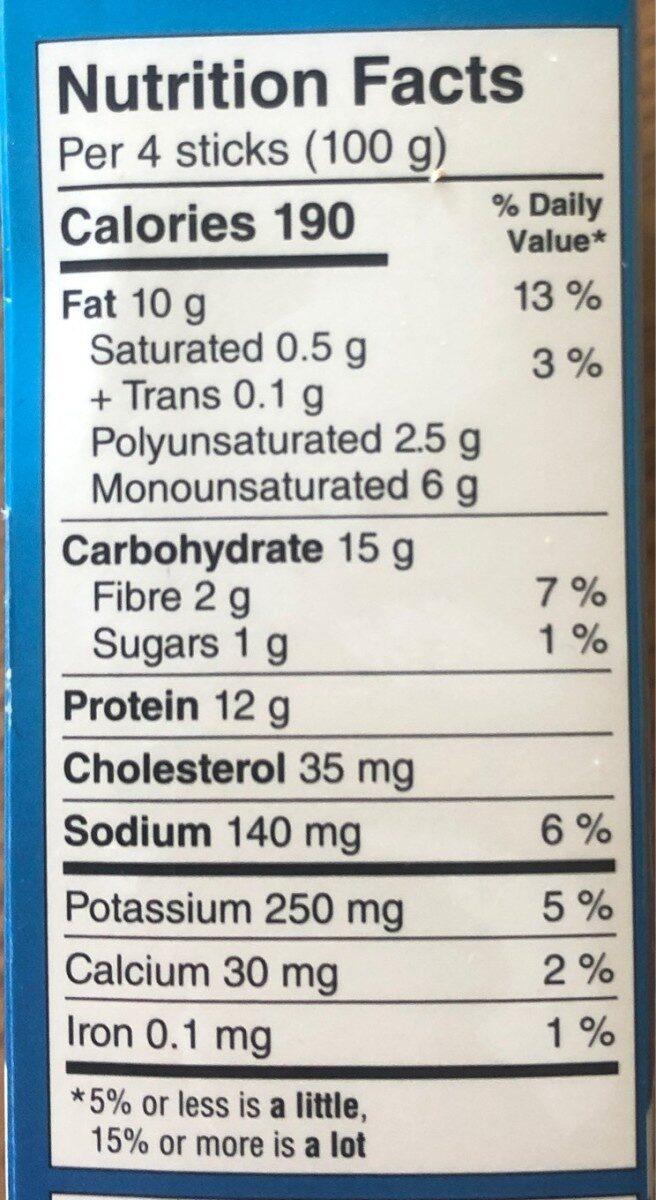 Fish Sticks - Nutrition facts - fr