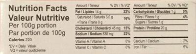 Filets de maquereaux - Nutrition facts - fr