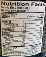 Basra Date Molasses - Nutrition facts