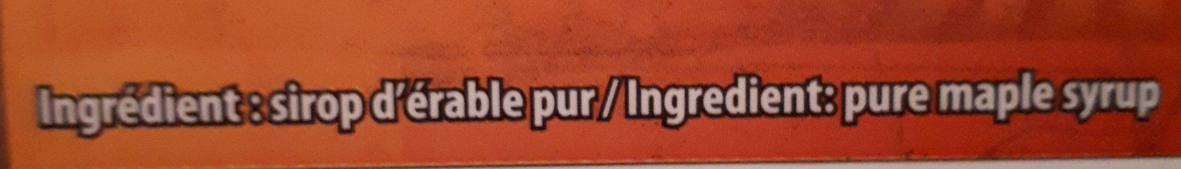 Maple Syrup - Ingrédients - fr