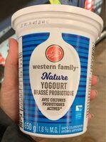Nature yogurt - Product - fr