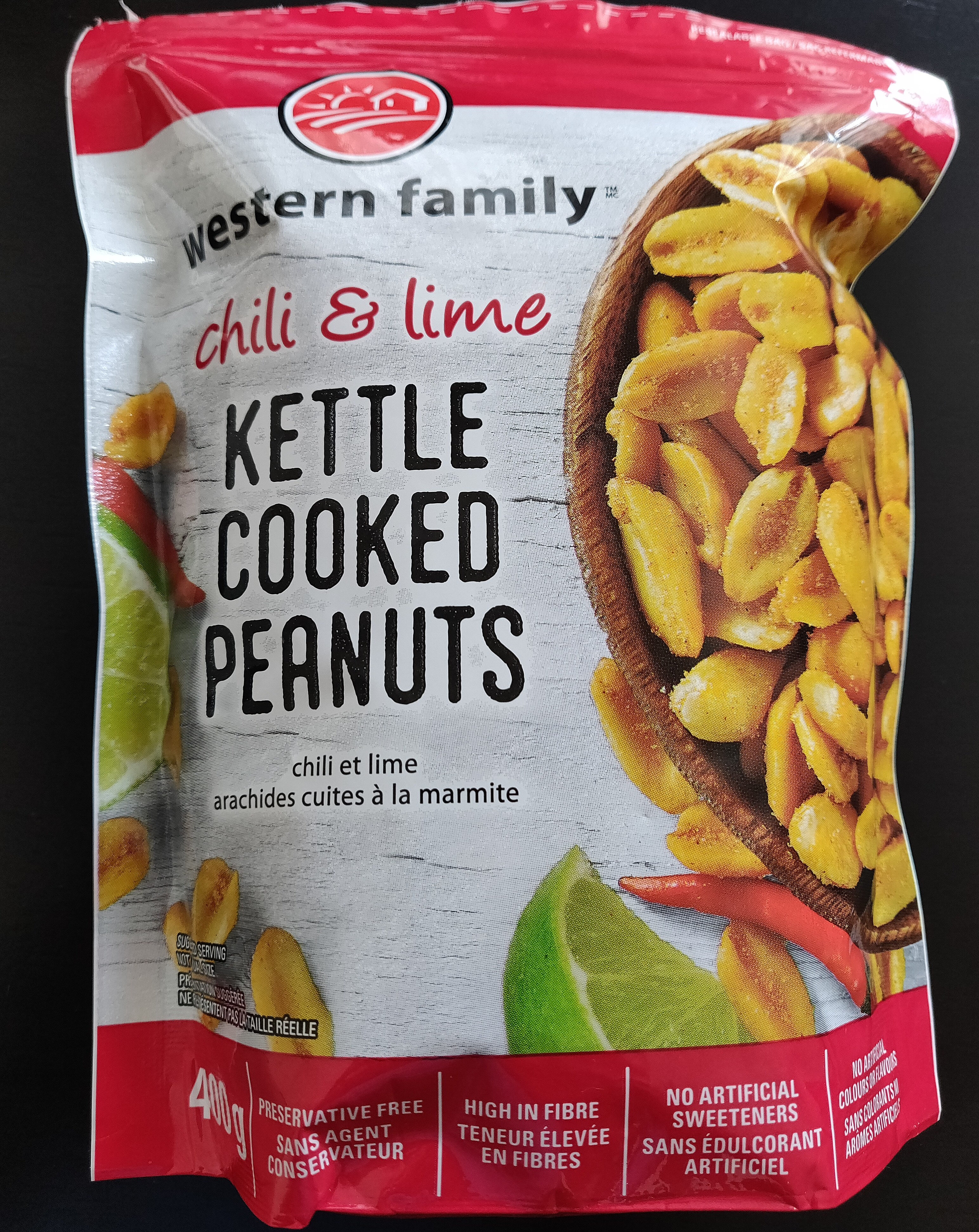 Chili and lime kettle cooked peanuts - Produit - en