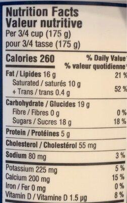 Greek style yogurt - Nutrition facts