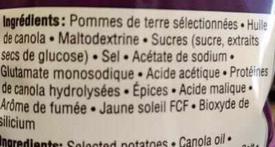 chips assaisonnées - Ingredients - fr