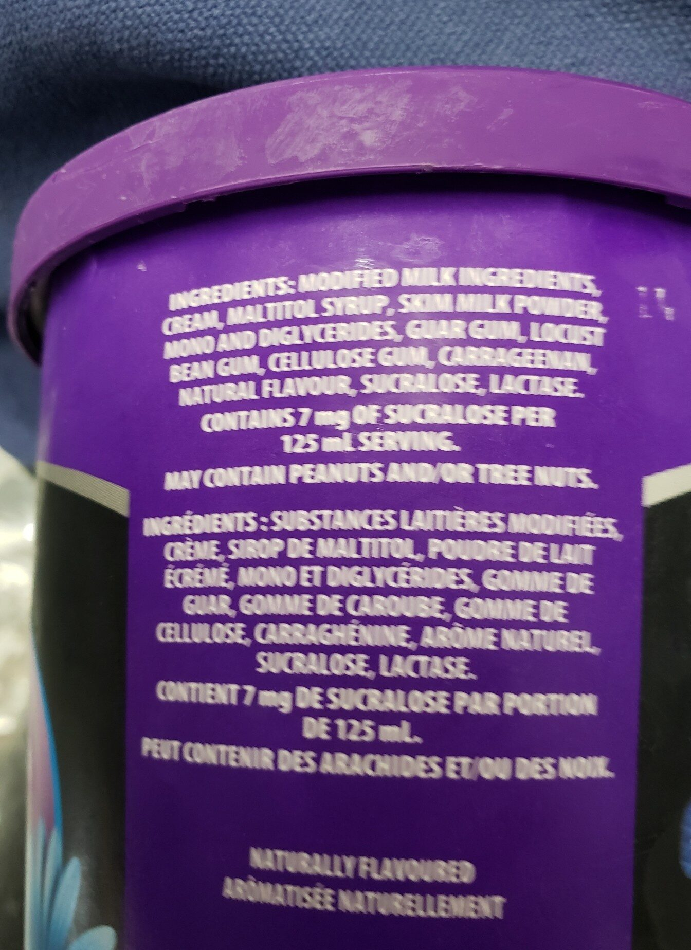 Ice crema glacee - Ingredients - en