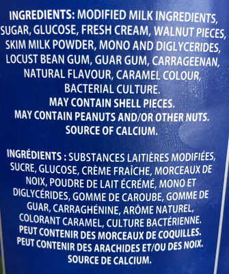 Yogourt glacé - Ingredients - fr