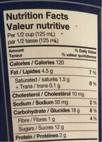 Yogourt glacé - Nutrition facts - fr