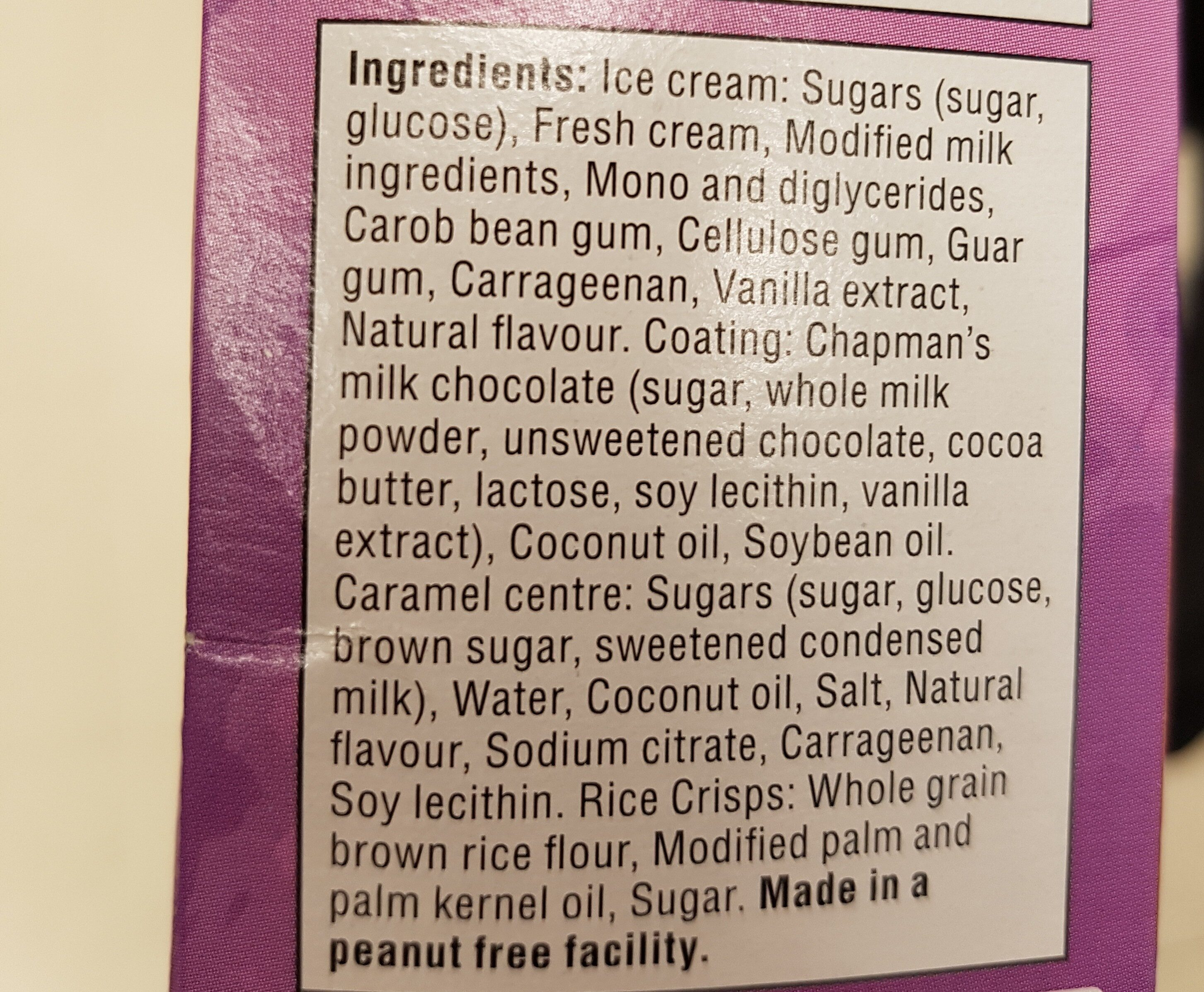 ice  cream - Ingredients - en
