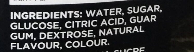 Water Ice Twister Fruit Twist - Ingredients - en