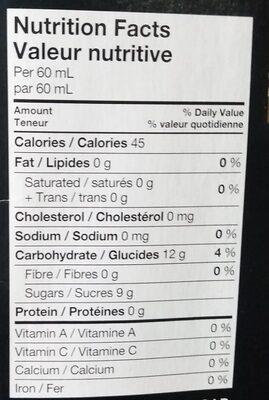 Water Ice Twister Fruit Twist - Nutrition facts - en