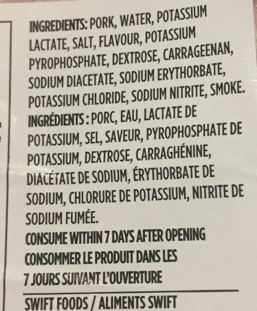 Swift Ham - Ingrédients - fr